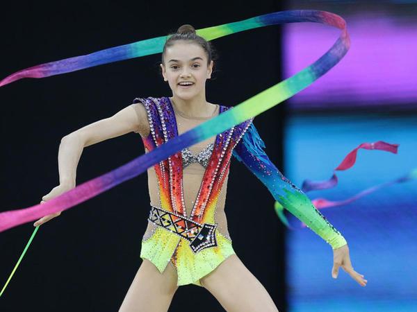 """Milli Gimnastika Arenasında """"AGF Junior Trophy"""" turniri iştirakçılarının podium məşqləri keçirilir - <span class=""""color_red"""">FOTOREPORTAJ</span>"""