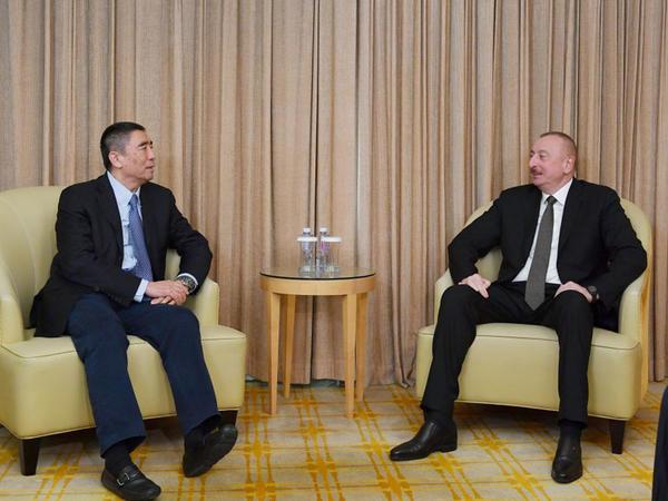 """Azərbaycan Prezidenti İlham Əliyev """"China Poly Group"""" Korporasiyasının sədri ilə görüşüb - YENİLƏNİB - FOTO"""
