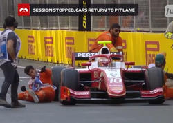 "Bakıda ""Formula"" bolidi <span class=""color_red"">iki nəfəri vurdu - VİDEO - FOTO</span>"