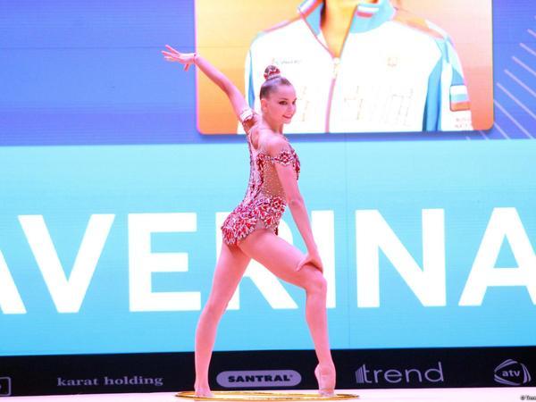 Bakıda keçirilən bədii gimnastika üzrə Dünya Kubokunda topla hərəkətlərdə finalçılar müəyyənləşib