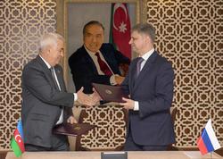 """Azərbaycan və Rusiya dəmir yolları arasında memorandum imzalandı - <span class=""""color_red"""">FOTO</span>"""