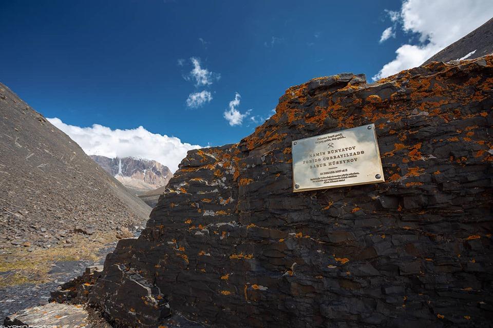 Alpinistlərin adı əbədiləşdirildi - FOTO