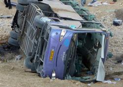 Rusiyada Ermənistandan gələn avtobus aşdı