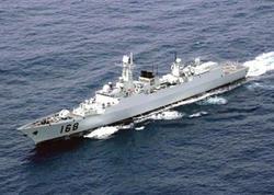 Çin iki hərbi gəmisini suya buraxdı