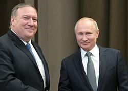 Putinin Pompeo ilə görüşü 1,5 saat davam edib