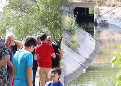 Binədə dəhşət: sakinlər kanalizasiya suları axıdılan kanaldan su içirlər