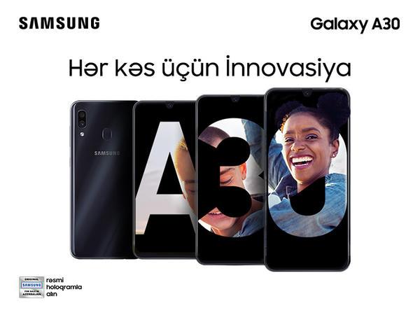 """Samsung Galaxy A30 - <span class=""""color_red"""">Əla funksionallığa sahib heyrətamiz smartfon</span>"""