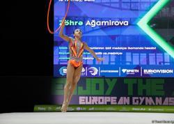 Bakıda bədii gimnastika üzrə Avropa çempionatının final mərhələsi davam edir  - FOTO