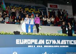 Bakıda bədii gimnastika üzrə Avropa çempionatının fərdi proqramı üzrə qaliblər mükafatlandırılıb - FOTO