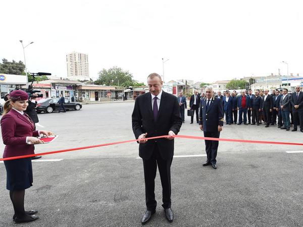Prezident İlham Əliyev Sabunçu dəmir yolu vağzalı kompleksinin açılışında iştirak edib - FOTO