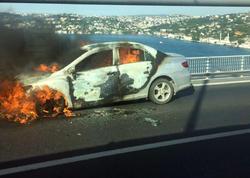 """Kişi avtomobilini yandırıb, <span class=""""color_red"""">özünü körpüdən atdı - VİDEO - FOTO</span>"""