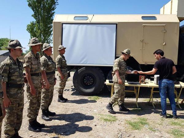 Əməliyyat-taktiki təlimləri çərçivəsində səhra şəraitində təminat məntəqələri yaradılıb - VİDEO - FOTO