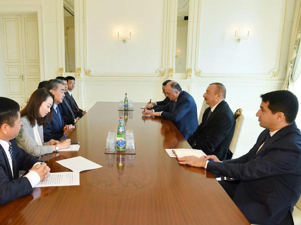 Prezident İlham Əliyev Çinin Xarici İşlər nazirini qəbul edib - FOTO