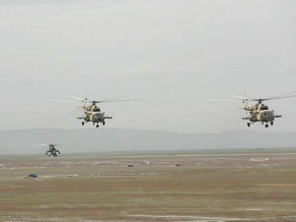 Azərbaycan Ordusunun helikopterləri Türkiyədə tapşırıqlar icra edib - FOTO - VİDEO