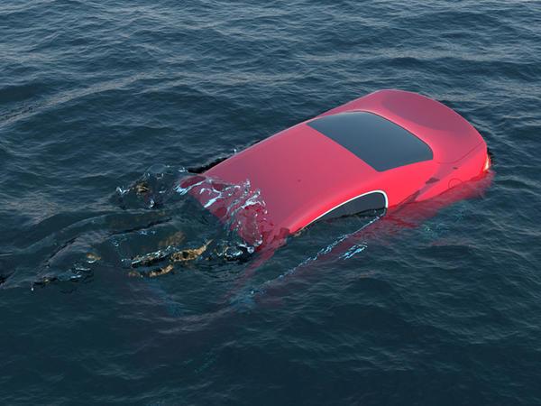 """Qucağında hörümçək görən qadın özünü avtomobildən atdı, <span class=""""color_red"""">maşın suya düşdü - FOTO</span>"""