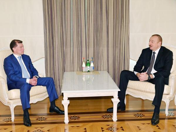 Prezident İlham Əliyev Rusiyanın Əmək və Sosial Müdafiə nazirini qəbul edib - FOTO