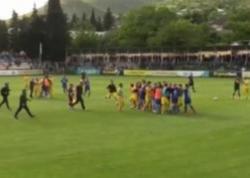 Gürcüstanda futbol oyunu vaxtı kütləvi dava düşdü