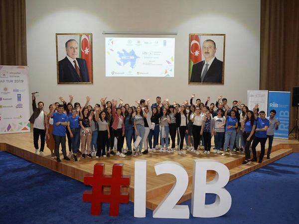 """""""I2B – İdeyadan Biznesə"""" layihəsi çərçivəsində Şəkidə startap turu keçirilib - FOTO"""