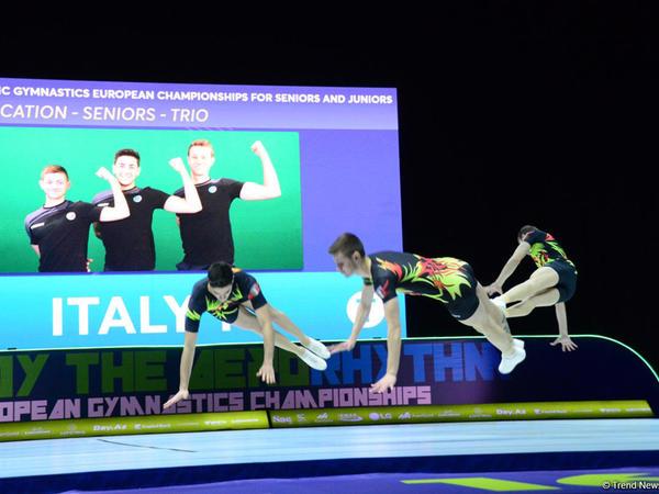 Aerobika gimnastikası üzrə Avropa Çempionatında üçlük şəklində çıxış edən böyük gimnastlar arasında finalçılar məlum olub