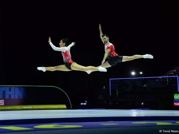 Bakıda aerobika gimnastikası üzrə Avropa Çempionatının ikinci günündən maraqlı anlar - FOTO