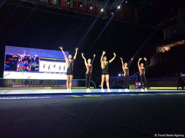 Azərbaycan komandası aerobika gimnastikası üzrə Avropa Çempionatında qruplar arasında finala yüksəlib