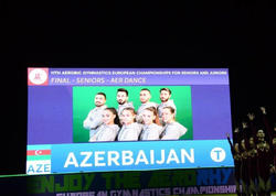 Azərbaycan gimnastları və azarkeşlərindən möhtəşəm himn ifası