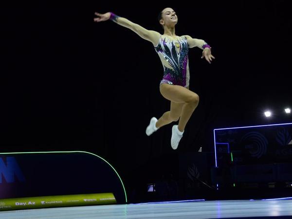Rusiyalı gimnast Bakıda aerobika gimnastikası üzrə 11-ci Avropa Çempionatında gənclər arasında fərdi proqramda qızıl medal qazanıb