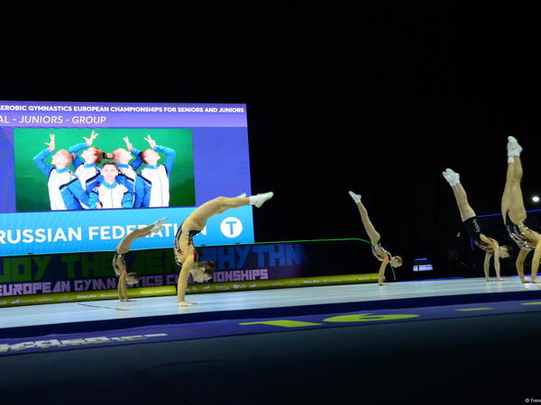 Aerobika gimanstikası üzrə Avropa çempionatında gənclər arasında qrup proqramının qalibləri müəyyənləşib