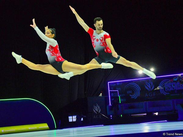Bakıda aerobika gimnastikası üzrə 11-ci Avropa Çempionatının final yarışmalarının ən yaxşı anları - FOTO