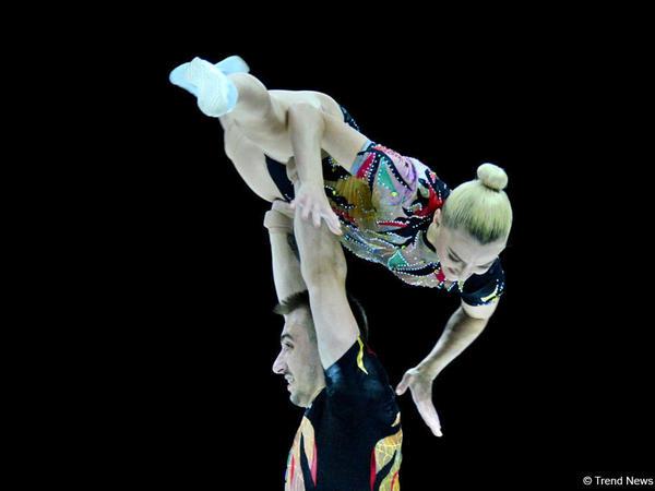 Macarıstan cütlüyü Bakıda aerobika gimnastikası üzrə AÇ-da qızıl medal qazanıblar