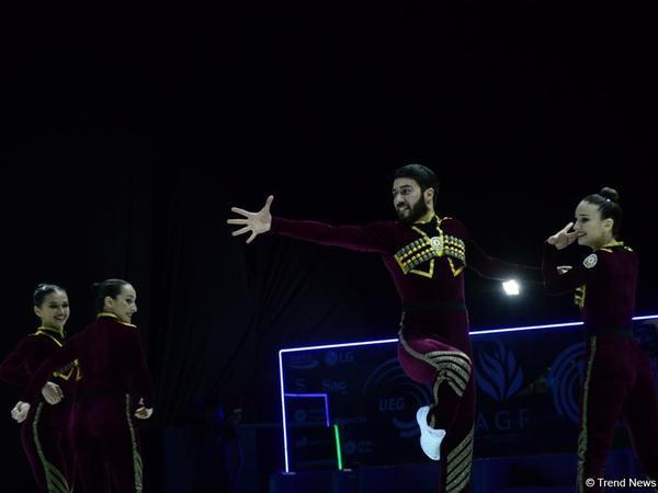 Gimnastlarımız Avropa Çempionatının aero dans proqramında qızıl medal qazanıblar - FOTO