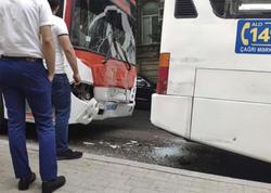 "Bakıda zəncirvari qəza: <span class=""color_red"">3 avtobus toqquşdu - FOTO</span>"