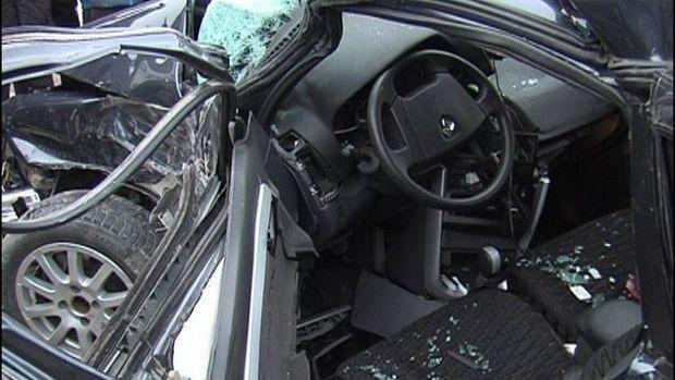 Yevlaxda qəza: sürücü öldü – FOTO