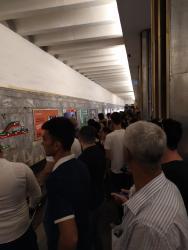 Bakı metrosunda hərəkət İFLİC OLDU - Sərnişinlər qatarda gözlədilər - FOTO