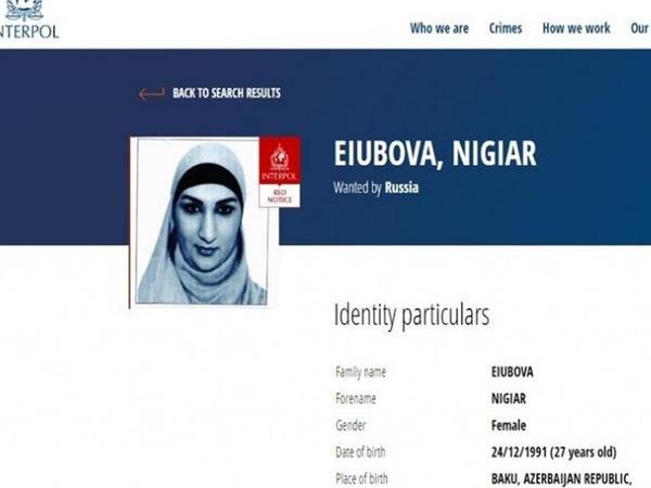 Rusiya azərbaycanlı qadını beynəlxalq axtarışa verdi