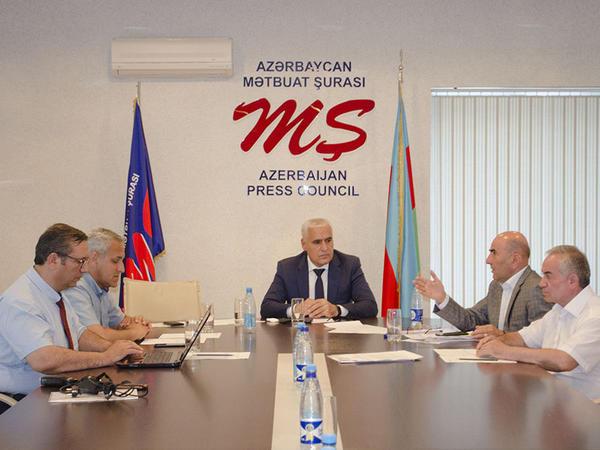 """""""Reket jurnalistika""""ya qarşı mübarizə Komissiyasının iclasları keçirilib - FOTO"""