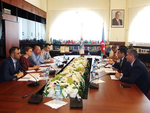 Ombudsman Aparatında Avropa Şurasının nümayəndələri ilə görüş keçirilib - FOTO