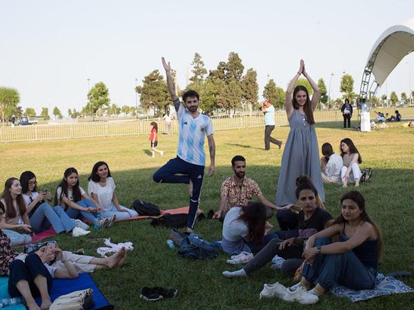 Bakıda maraqlı yoqa festivalı keçirildi - FOTO