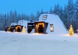 Finlyandiyada qış kurortu - FOTO