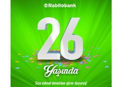 26 il sizə sadiq olan - Rabitəbank!