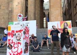 """Tbilisidə 20-ci aksiya - <span class=""""color_red""""> """"Nazir istefa versin!""""</span>"""