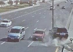 Sürücülərin yatması qəzalara səbəb oldu - VİDEO