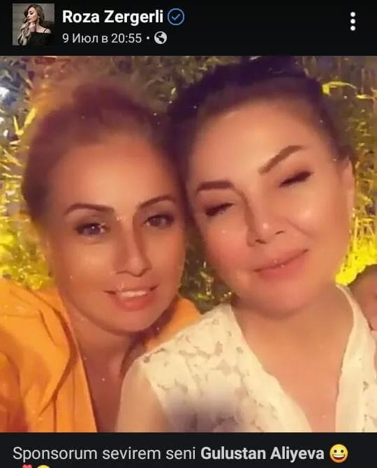 """Roza Zərgərli """"sponsoru"""" ilə istirahətdə - FOTO"""