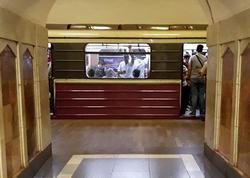 Bakı metrosunda təşvişə düşən sərnişinlər vaqonu tərk etdilər