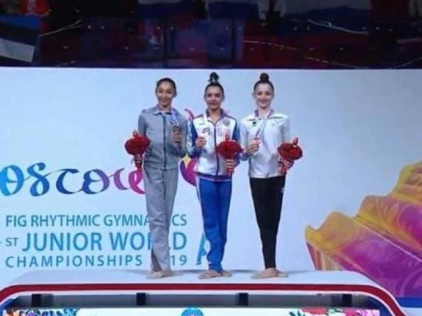Gimnastımız Arzu Cəlilova dünya çempionatının ikiqat mükafatçısı olub
