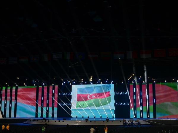 Bakıda XV Avropa Gənclər Yay Olimpiya Festivalının təntənəli açılış mərasimi keçirilib - FOTO