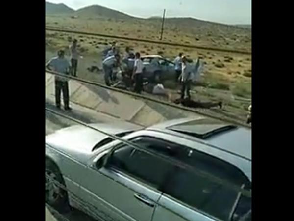 Bakı-Şamaxı yolunda baş verən qəzanın VİDEOsu