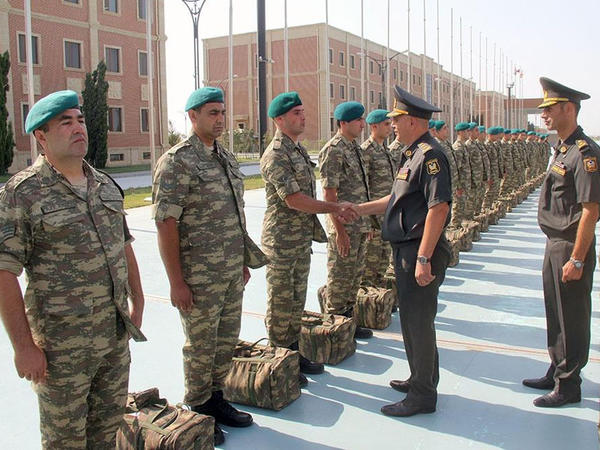 Azərbaycanlı hərbçilər Əfqanıstana yola salındılar - FOTO - VİDEO