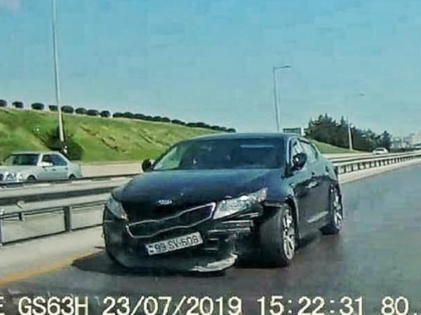 Bakı-Sumqayıt yolunda ölümə gedən sürücü - VİDEO
