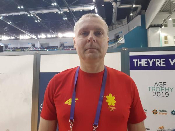 EYOF Bakı 2019: Milli Gimnastika Arenasının zalı çox yaxşıdır - Litva nümayəndə heyətinin nümayəndəsi